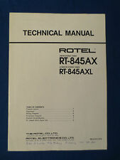 ROTEL RT-845AX TUNER TECHNICAL SERVICE MANUAL ORIGINAL