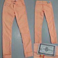 Cimarron Jeans Hose Orange Braun Straight Leg Size 14 164 1A