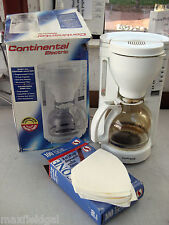 Used Continental Coffee Maker CE 23671, 12 cup w/36 new disposable filters