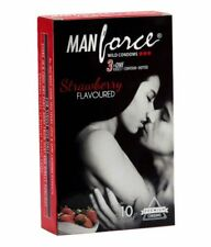 3 in 1 Manforce Strawberry Flavoured Durex Climax Delay Condoms 5x Pack DISCREET