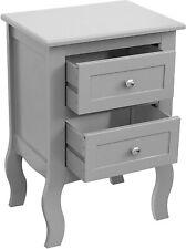 2 Drawer Bedside Table Cabinet Side Storage Organizer Unit Durable Vintage New