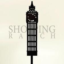 Fidanzamento cake topper Mr & Mrs Londra Big Ben Nero Acrilico Decorazione