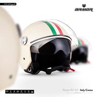 ARMOR AV-63 Italy C. Jet-Helm Vespa Roller Motorrad-Helm Chopper XS S M L XL XXL