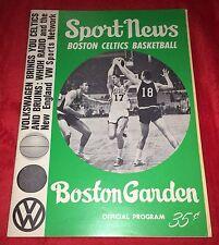 Boston Celtics Boston Garden 1965 Sport News Official Program John Havlicek