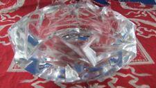 ancien cendrier cristal taillé de sevres signé epoque 1960