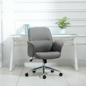 Vinsetto Executive Rocking Chair Office Chair  Adjustable Mid Back w/Wheel Grey