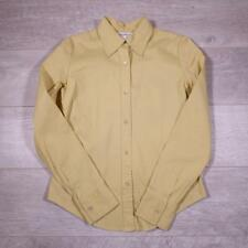 Womens CALVIN KLEIN Lime Green Vintage Stretchy Shirt Blouse Size 6 #F2923