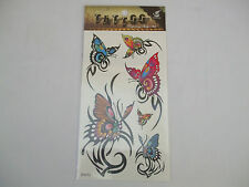 Fun Tattoos for Girls Assorted Butterflies Orange, Blue, Pink, Green New