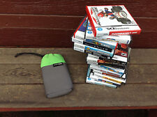 Nintendo DS Soft Carry Case + 17 Game Cases ( NO GAMES - CASES ONLY )