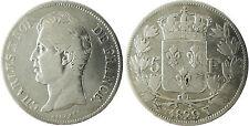 CHARLES  X  ,  5  FRANCS  ARGENT  ,  1829  T  NANTES