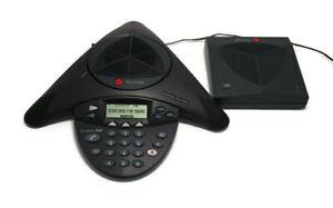 Polycom Soundstation 2W Wireless Conference Room Phone w/ Base Station Adapter