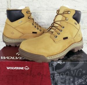 """Wolverine Mens Dublin 6"""" Waterproof Insulated Work Boots Size 13 W04780 Wheat"""