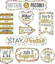 TCR 77326 Confetti Positive Sayings Clingy Thingies Accents Classroom Decoration