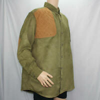 RedHead Green Long Sleeve Men's XL Shooting Shirt Quilted Right Shoulder Elbows