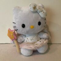 Hello Kitty TY Sanrio 2012 Angel Fairy Godmother With Wings Stuffed Animal Doll