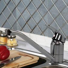 Chrome Single Lever Kitchen Sink Mono Basin Mixer Tap Faucet Swivel Spout Modern