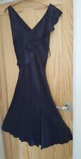 Monsoon Women's Navy Adara Drape Frill Ruffle Wedding Party Midi Dress size 12