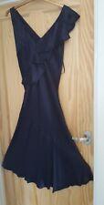 Monsoon Women's Navy Adara Drape Frill Ruffle Wedding Party Midi Dress size 12