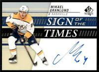 2019-20 UD SP Authentic Sign of the Times Auto #SOTT-MG Mikael Granlund