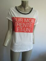"""ZARA"" TOP TUNIQUE TEE SHIRT A COLLIER  T. S = 36/38 V/MESURES"