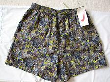 Mens Vintage NIKE Swim Trunks Board Shorts Retro Print 80s 90s Sz L - NWT