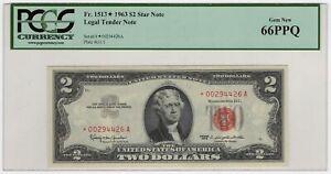 $2 1963 Legal Tender Star Note PCGS 66 PPQ FR#1513