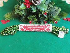 Vintage Green Mercury Glass Beads 9 Feet Long Garland