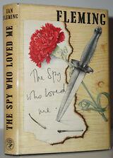 THE SPY WHO LOVED ME~ W. QUAD MARK~IAN FLEMING~ 1ST1ST UK PRINTING & ORG.JACKET