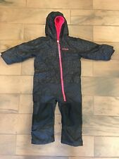 COLUMBIA GIRLS FROSTY SLOPE SNOWsuit  SNOWMoBile 4T Pink Black Cheetah One Piece