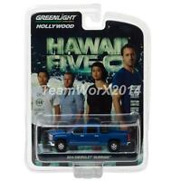 GREENLIGHT44760 E 2014 CHEVROLET SILVERADO HAWAII FIVE DIECAST CAR / TRUCK 1:64