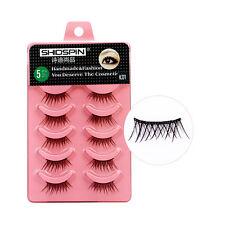 SHIDISHANGPIN 5 Pairs Soft Natural Eye Lashes Extension Individual Eyelashes New