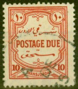 Transjordan 1929 10m Scarlet SGD192 Fine Used