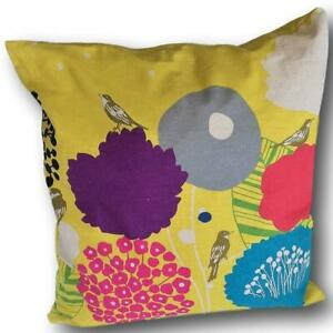 WILDFLOWER IN CHARTREUSE CUSHION COVER IN FABRIC BY ECHINO OF JAPAN