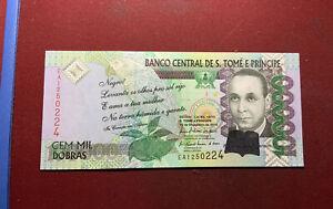 Saint Tomé und Príncipe 100.000 Dobras Banknote 2010 - Kassenfrisch
