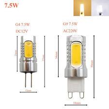 Dimmable G4 G9 E14 LED 2/3/4/5/6/7/8/9W Light COB Filament Capsule Corn Bulb 12V