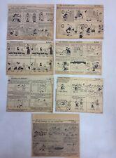 Lot Of 7 Francis Dahl Boston Herald Vermont Themed Cutout Newspaper Comic Strips