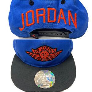 Vintage Jordan Hat Wings Logo Spell out Snapback Adjustable Embroider Youth 4/7