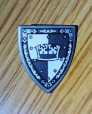 Lego parte plana escudo de plata con 3846pb34 Gris Gris corona triangular
