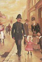 GBP053) PC GB In charge, Policeman & little girl in street, Victorian, Kirkpatr