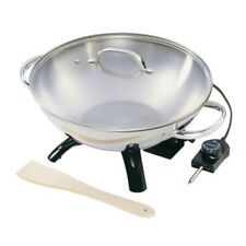1500 W 17 In. X 14 In. X 9.5 In. Stainless Steel Electric Wok