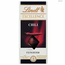 3 x Lindt Excellence chocolate Chili fine dark = 300g / 0.66lbs New
