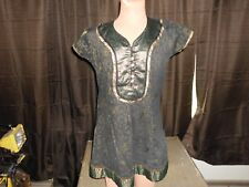Diya Womens Short Sleeve V-Neck Blouse Top Size XL 36    C2