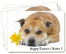 Personalised Red Staffie Picture Placemats in Gift Box, AD-SBT3DA2P