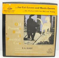 Old Possum's Book of Practical Cats Album Vinyl Record and Book T. S. Eliot