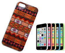 HOUSSE COUVERTURE FLIP COMPATIBLE IPHONE 5 TPU TRIBAL ETHNIQUE ORANGE BEIGE ALTO
