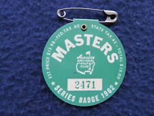 Vintage 1962 Augusta National Masters Golf Tournament Badge won by Arnold Palmer