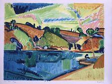 Pierre GUASTALLA 1891-1968.Pont-Aven.Lithographie.30x40.SBD.Titrée.47/75.C1950