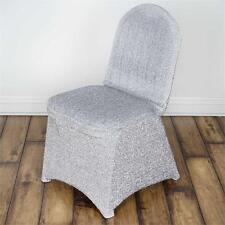 Spandex Chair Cover - Metallic Silver