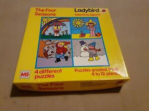 Ladybird The Four Seasons Teaching Jigsaw Michael Stanfield 4 Different Puzzles