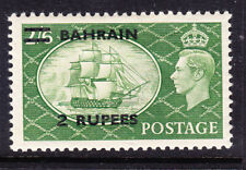 BAHRAIN George VI 1951 SG77 2rs on 2/6 of GB - lightly mounted mint. Cat £45